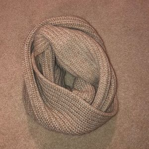 Cream and white infinity scarf
